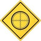 Rifle Sight,Road Sign,Sign,Old,Vector,Yellow,Distressed,Grunge,Design Element,Symbol,Isolated On White,Weathered,Concepts And Ideas,Communication,Banner,Illustrations And Vector Art,Vector Icons,Ilustration,Placard,Damaged,Old-fashioned