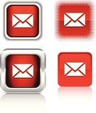 E-Mail,Red,Push Button,Square Shape,Interface Icons,Square,Badge,Halftone Pattern,Three-dimensional Shape,Shiny,Icon Set,Computer Icon,Letter,Transparent,Mail,Vector Icons,Metallic,Plastic,Illustrations And Vector Art,Internet,Reflection,Shadow,Focus on Shadow,Vector,Metal,Ilustration