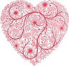 Heart Shape,Flower,Floral Pattern,Vector,Plant,Creativity,Decoration,Ilustration,Illustrations And Vector Art