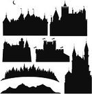 Castle,Medieval,Fairy,Palace,Fort,Urban Skyline,Forest,Mountain,Fantasy,Tower,kingdom,Black Color,City,Flag,Town,Church,Ilustration,Tree,Building Exterior,Computer Graphic,Backgrounds,History,Hill,Architecture,Vector Backgrounds,Architecture Backgrounds,Architecture And Buildings,Illustrations And Vector Art,Cityscape