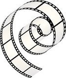 Film,Film Reel,Camera Film,Movie Theater,Movie,Film Industry,Spiral,Isolated,Black And White,Digitally Generated Image,Cinema,Vector Icons,Illustrations And Vector Art,Blank,Arts And Entertainment