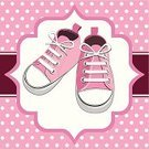 Shoe,Child,Sports Shoe,Baby,Spotted,Little Girls,Polka Dot,Baby Girls,Vector,Pink Color,Birthday,Running,Clothing,Small,Ilustration,Pair,Single Object,Fashion,Consumerism,Beauty And Health,Concepts And Ideas,Illustrations And Vector Art