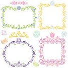 Frame,Picture Frame,Flower,Lace - Textile,Butterfly - Insect,Pink Color,Cute,Circle,Vector,Ornate,Vine,Iris,Purple,Tulip,Firefly,Label,Yellow,Ellipse,Pansy,Multi Colored,Square Shape,Swirl,Springtime,Elegance,Summer,Nature,Insect,Green Color,Set,Isolated,Design Element,Copy Space,Vector Florals,Illustrations And Vector Art,Nature,Isolated Objects