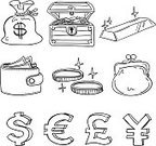 Currency,Doodle,Sketch,Coin,Wallet,Symbol,Euro Symbol,European Union Currency,Change Purse,Dollar,Paper Currency,Computer Icon,Gold,Wealth,Icon Set,Savings,Bag,Sign,Line Art,Dollar Sign,Pouch,Currency Symbol,Ilustration,Pound Symbol,British Currency,Black And White,Ingot,Star Shape,Japanese Yen,Yen Sign,Vector,Clip Art,Clipping Path,Coin Bag