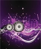 Music,Backgrounds,Abstract,Purple,Vector,Grunge,Musical Note,Striped,Spray,Blue,Wallpaper Pattern,Ilustration,Sound,Modern,Design Element,Black Color,Vertical,Creativity,Blob,Art,Circle,White