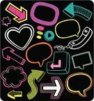 Bubble,Doodle,Speech,Heart Shape,Cartoon,Talking,Discussion,Sketch,Design,Shape,Arrow Symbol,Telephone,Symbol,Colors,Sign,Scribble,Cloud - Sky,Push Button,Talk,Keypad,Silhouette,Set,Design Element,Color Image,Curve,Computer Graphic,Icon Set,Drawing - Art Product,Vibrant Color,Pencil Drawing,Outline,Cheerful,Computer Icon,Vector,Communication,Enter Key,Business,Communication,Concepts And Ideas,Business Concepts,Contour Drawing,Isolated,Collection,Hand-drawn,Business Symbols/Metaphors,Business,Ilustration,Bright,Direction,Geometric Shape,Vertical,Squiggle,Thinking,Group of Objects,Incomplete,Isolated On Black