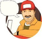 Truck Driver,Driver,Truck,Driving,Cartoon,Van - Vehicle,Cap,Car,Beard,Men,Vector,Mustache,Smiling,Cheerful,Pick-up Truck,Delivering,Freight Transportation,Characters,Web Page,Mini Van,Baseball Cap,Male Beauty,Circle,Illustrations And Vector Art,Transportation,Cloud - Sky,People,Land Vehicle,Sign,Bubble,Cabin,Adult,Transportation,Skill,Industry,Hat,Occupation,Curve,Vector Cartoons,Professional Occupation,truck cab