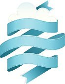 Ribbon,Banner,Blue,Computer Graphic,Fluffy,Vector,Cloud - Sky,Stitch,Design,Design Element,Digitally Generated Image,Nature Backgrounds,Vector Backgrounds,Vector Ornaments,Graphical Element,Nature,Illustrations And Vector Art,Funky,Ilustration,Weather,Style