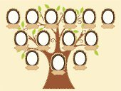 Tree,Family,Family Tree,Frame,Picture Frame,No People,Vector,Green Color,History,People,Families,Lifestyle,Leaf,Ilustration,Appliqué