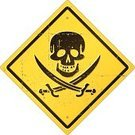 Pirate,Human Skull,Pirate Flag,Warning Sign,Danger,Skull and Crossbones,Symbol,Grunge,Human Bone,Vector,Road Sign,Old,Isolated On White,Concepts And Ideas,Illustrations And Vector Art,Vector Icons,Design Element,Distressed,Ilustration,Damaged,Old-fashioned,Road Warning Sign