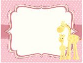 Cute,Giraffe,Cartoon,Young Animal,Pink Color,Invitation,Polka Dot,Mothers Day,Pastel Colored,Vector,Safari Animals,Ilustration,Greeting Card,Female Animal,Copy Space,Animals And Pets,Vibrant Color,Togetherness,Art And Craft,Horizontal,Animal Themes,Animal Backgrounds,No People,Two Animals,Color Image,Baby Animals
