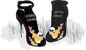 Fashion,Human Skull,Haute Couture,High Heels,Stiletto,Clubbing,White Background,Retro Revival,Fashion Industry,Beauty And Health,Modern Life,Vector,Shoe,Buckle,Modern,Concepts And Ideas,Illustrations And Vector Art,Fashion,Party - Social Event,Flame,Black Color,Pair,Individuality