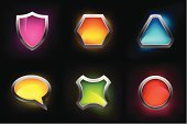 Push Button,Interface Icons,Shield,Shiny,Triangle,Frame,Symbol,Three-dimensional Shape,Circle,Curve,Sign,Icon Set,Computer Icon,Black Color,Security,Badge,Chrome,Silver - Metal,Banner,Blank,Metal,Discussion,Safety,Hexagon,Bubble Wand,Label,Design Element,Ilustration,Set,Protection,Vector,Blue,Illustrations And Vector Art,Technology,template,Classic,No People,heraldic,Technology Abstract,Speech,Decoration,Vector Icons,Empty,Digitally Generated Image,Clip Art,Communication,Computer Graphic,Medallion,Design