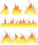 Flame,Fire - Natural Phenomenon,Vector,Ilustration,Heat - Temperature,Clip Art,Igniting,Burning,Design Element,Design,Pattern,Set,Yellow,Collection,Orange Color,Isolated On White,Red,Brightly Lit,Vibrant Color,Bright