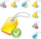 Computer Icon,Symbol,favorite,Metadata,Three-dimensional Shape,Hashtag,Add,Computer Language,Business,Check Mark,Sign,Single Word,Green Color,identifier,upload,Isolated,Actions,Internet,Vector,Delete Key,Ilustration,Downloading,Technology,Label,Red,Yellow,Creativity,Text,Computer Graphic,Blue,Data,Technology Symbols/Metaphors,Illustrations And Vector Art,Set,keyword,Hanging