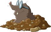 Mole,Ground,Hole,Dirt,Vector,Land,Blind,Cartoon,Stone,Animal Den,Animal,Eyeglasses,Rodent,Ilustration,Drawing - Art Product,Fun,Isolated On White,sightless,Image,Objects with Clipping Paths,Animals And Pets,Illustrations And Vector Art,Cute,Gray,Vector Cartoons,Isolated,Pencil Drawing,Isolated Objects,Mammals