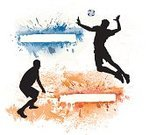 Volleyball - Sport,Volleyball,Sport,Silhouette,Heading the Ball,Vector,Long Jump,Ball,Men,Back Lit,Running,Placard,Jumping,Athlete,Banner,High Jump,Muscular Build,Adult,Art,Competitive Sport,Team Sports,Male,Sports Symbols/Metaphors,Black Color,Tackling,Painted Image,Design Element,Shooting,Ilustration,Shooting at Goal,Defending,Celebration,Sports And Fitness
