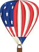 Hot Air Balloon,USA,Flag,American Flag,Heat - Temperature,Old,American Culture,Vector,White,Red,Mid-Air,Blue,Drawing - Art Product,Pencil Drawing,Ilustration,Levitation,Travel Locations,Patriotism,Objects/Equipment,Sports And Fitness,Air Travel,Star Shape,Striped,Unity,Success,Majestic,Flying
