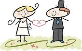 Computer Graphics,People,Event,Humor,Love,Happiness,Romance,Joy,Cheerful,Bride,Bridegroom,Smiling,Heterosexual Couple,Wedding,Multi Colored,Heart Shape,Computer Graphic,Adult,Cut Out,Cute,Color Image,Illustration,Celebration,Cartoon,Two People,Males,Men,Females,Women,Doodle,Vector,Single Flower,Adults Only,Couple - Relationship,Clip Art