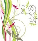 Backgrounds,Abstract,Pink Color,Swirl,Growth,Ilustration,Ornate,Spiral,Nature,Leaf,Image,Branch,Summer,Pattern,Illustrations And Vector Art,Decoration,Vector Backgrounds,No People,Remote,Curve,Elegance