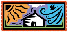 House,Woodcut,Residential Structure,Sun,Wind,Storm,Weather,Hurricane - Storm,Rain,Security,Disaster,Natural Disaster,Protection,Adversity,Risk,Winter,Summer,Homes,Problems,natural elements,Nature,Architecture And Buildings
