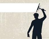 Window Washer,Cleaning,Window,Cleaner,Silhouette,Men,Occupation,Outline,Ilustration,One Person,Banner,Vector,Copy Space,Industry,People,Retail/Service Industry,text-space,Single Line,Illustrations And Vector Art