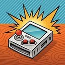 Retro Revival,Leisure Games,Wood - Material,Entertainment,Joystick,Push Button,Entertainment Center,Toy,Children's Toy,Sports And Fitness,Computer Monitor,Illustrations And Vector Art,Leisure Activity,Technology,Fun,Red,Gray,Blue