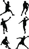 Dodgeball,Sport,Silhouette,Throwing,Ball,Dodge,Vector,Recreational Pursuit,Jumping,People,Outline,Tossing,Athlete,Competition,People,Sports And Fitness,Illustrations And Vector Art