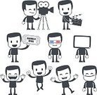 Men,Symbol,Doodle,People,Business,Director,Humor,Camera - Photographic Equipment,Simplicity,Coupon,Cheerful,Dancing,Vector,Ticket,Sign,Event,Hollywood - California,Party - Social Event,Action,Success,Camera Operator,Fun,Multimedia,Cute,Businessman,Computer Graphic,People,Business People,Illustrations And Vector Art,Positive Emotion,Vector Backgrounds,Business