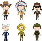 Cowboy,Child,Occupation,Native American,Cartoon,North American Tribal Culture,Pilot,Armed Forces,Little Boys,Hat,Doodle,Underwater Diving,Indigenous Culture,Sailor,Military,Army,Diving,Cute,Vector,People,Work Helmet,Navy,Men,Set,Feather,Gun,Underwater,Weapon,Characters,Ethnicity,Traditional Clothing,Boot,Smiling,Professional Occupation,Cultures,Handgun,Decoration,Male,Porthole,Vector Cartoons,People,Suit,Teens,Lifestyle,Illustrations And Vector Art,Uniform,Cheerful
