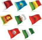 Flag,Sri Lanka,Kazakhstan,Qatar,Morocco,Middle East,Nigeria,Africa,Asia,Algeria,Mali,Arabia,South America,Vector,Business Travel,Series,Computer Icon,Politics,Business Travel,Objects with Clipping Paths,Isolated,Illustrations And Vector Art,Isolated Objects,Travel,Tunisia,Set,Vector Icons,Europe,Business