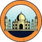 Taj Mahal,India,Mosque,Travel,Label,Famous Place,Journey,Ilustration,Vector Icons,Vector Ornaments,Travel Locations,Illustrations And Vector Art,Vector