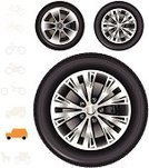 Tire,Wheel,Sports Utility Vehicle,Car,Vector,Alloy Wheel,Sport,Isolated,4x4,Black Color,Truck,Steel,Personal Land Vehicle,Brake Caliper,Red,Transparent,Spoke,Wagon Wheel,Pick-up Truck