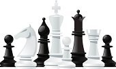 Chess,Chess Piece,Leisure Games,Chess Rook,Strategy,Chess King,Chess Bishop,Board Game,Chess Queen,Chess Pawn