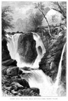 Drawing - Art Product,Landscape,Watermill,Ilustration,Waterfall,Water,Engraved Image,Sketch,Water Wheel,Old-fashioned,Wales,Welsh Culture,Industry,Cultures,North Wales,Black And White,Vertical,Fulling Mill,Day,Image Created 19th Century,Monochrome,UK,River,Splashing,Mill,Image Created 1870-1879,Pouring,Social History,Travel Destinations,Flowing Water,Betws-y-Coed,History,Pandy Mill,Antique,Riverbank,Ephemera,The Past,Old,European Culture,Tourism,Europe,Outdoors,British Culture,Famous Place,19th Century Style