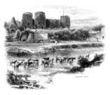 Ilustration,Drawing - Art Product,Rural Scene,The Past,British Culture,Old Ruin,Old,Riverbank,Ruined,Tourism,History,UK,Water's Edge,Herd,Black And White,Building Exterior,Man Made Structure,19th Century Style,River Clwyd,River,Denbighshire,Travel Destinations,Tower,Clywd,Wales,In Front Of,Turret,Engraved Image,Sketch,military history,North Wales,Medieval,Welsh Culture,Cultures,Edward I Of England,Military,Social History,Famous Place,Circa 13th Century,Image Created 19th Century,Image Created 1870-1879,Day,Old-fashioned,Antique,Cattle,Fort,Outdoors,Rhuddlan,Landscape,Ephemera,Monochrome,Rhuddlan Castle,Built Structure