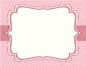 Frame,Invitation,Polka Dot,Backgrounds,Pink Color,Baby Girls,Ornate,Greeting Card,Scrapbook,Banner,Elegance,Vector,Announcement Message,Pastel Colored,Ilustration,Yellow,Empty,Horizontal,No People,Copy Space,Vector Backgrounds,Illustrations And Vector Art