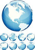 Globe - Man Made Object,Planet - Space,Earth,World Map,Sphere,Map,Vector,Europe,Blue,North America,Asia,Cartography,Ilustration,continents,Pacific Ocean,Environment,Abstract,Africa,White Background,Computer Graphic,Australia,Three Dimensional,Atlantic Ocean,No People,Topography,Design,Colors,Design Element,Travel Backgrounds,Transportation,Business Symbols/Metaphors,Business,Part Of,Travel Locations