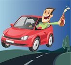 Car,Driving,Drive,Driver,Cartoon,Drinking,Happiness,Traffic,Alcoholism,Alcohol,Alcohol,Road,Travel,Travel Backgrounds,People,Vector Cartoons,Illustrations And Vector Art,Vector,Travel Locations