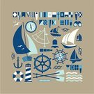 Nautical Vessel,Sailing,Anchor,Symbol,Sailing Ship,Yacht,Sail,Compass,Sea,Sailboat,Drinking Water,Cruise,Oar,Sign,Flag,Wave,Vector,Lighthouse,Rope,Silhouette,Design Element,Ilustration,Journey,Travel,Set,Seagull,Chain,Yachting,Vacations,Action,Binoculars,Tripping,Planet - Space,Nature,Composition,Recreational Pursuit,Bell