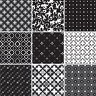 Pattern,Wallpaper Pattern,Seamless,Black And White,Black Color,White,Floral Pattern,Vector,Design,Decoration,Vector Ornaments,Vector Backgrounds,Ilustration,Illustrations And Vector Art