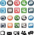 Mail,Envelope,Television Set,PC,Computer Icon,Communication,Letter,Vector,Design,Ilustration,Global Communications,Internet Icon,Communication,Illustrations And Vector Art,Concepts And Ideas,Set,web icon