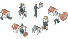 Isometric,House,Picking Up,Residential Structure,Real Estate,valuation,Examining,Currency,Buying,Clip Art,Set,web icons,Ilustration,Vector,Sale