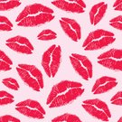 Human Lips,Lipstick Kiss,Pattern,Lipstick,Print,Seamless,Backgrounds,Vector,Make-up,No People,Red,Makeup/Cosmetics,Lifestyle,Beauty And Health,Illustrations And Vector Art