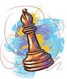 Chess,Chess Bishop,Sport,Concepts,Choice,Vector,Art,Motion,Decisions,Conflict,Competition,White,hand drawn,Illustrations And Vector Art,Vector Backgrounds,Composition,Painterly Effect,Wood - Material,Ilustration,Square,Drawing - Art Product,Leisure Games,Grunge,Part Of,Brush Stroke,Sports And Fitness,Paintings,Scribble,Painted Image,Incomplete