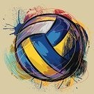 Volleyball,Volleyball - Sport,Sport,Ball,Vector,Sphere,Art,Ilustration,Paintings,Multi Colored,Leisure Games,Scribble,Square,Concepts,Grunge,Incomplete,Leisure Activity,Painted Image,Recreational Pursuit,Drawing - Art Product,Composition,hand drawn,Illustrations And Vector Art,Painterly Effect,Sports And Fitness,Team Sports,Vector Backgrounds,Brush Stroke