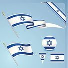 Israeli Flag,Israel,Flag,National Flag,Judaism,Sphere,Ribbon,Star Of David,Vector,Pennant,Set,White,Blue,Travel Locations,Isolated Objects,Zion - Israel,Illustrations And Vector Art,Design Element,Ilustration,Computer Icon,Symbol