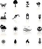 Symbol,Computer Icon,Wave,Water,Tree,Fire - Natural Phenomenon,Icon Set,Fuel Pump,Silhouette,Heat - Temperature,Factory,Sea,Black Color,Battery,Global Warming,Snow,Flower,Butterfly - Insect,Cloud - Sky,Globe - Man Made Object,Vector,Earth,Gasoline,Temperature,Nature,Environment,Sun,Rain,Electric Lamp,Thermometer,Set,Collection,Isolated,Leaf,Ilustration,Illustrations And Vector Art,Vector Icons,Planet - Space