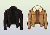 Leather Jacket,Jacket,Pilot,Leather,Black Color,Vector,Biker,Clothing,Hipster,Tan,Male,Punk,Classic,Beige,Beauty And Health,Top - Garment,Fashion,Dark,Fashion,Emo,Illustrations And Vector Art,Style,Objects/Equipment,Ilustration,Goth