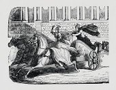 Chariot,Roman,Ancient,The Past,Horse,Sports Race,Sport,Engraving,Ilustration,History,Engraved Image,Competition,Rome - Italy,Drawing - Art Product,Black And White,Driving,Riding,Image,Etching,Pencil Drawing,Accuracy,Grunge,Visual Art,Empire,Image Created 19th Century,Paper,Arts And Entertainment,Men,Monoprint,Furious,Speed,Stadium,Ancient Rome,Herding,Old,Riding,Textured,Ink,19th Century Style,Whip
